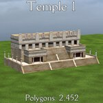 Mayan City: Temples (for Poser)