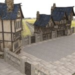 Medieval Street (for Wavefront OBJ)