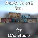 Click to see information about the 'Shanty Town Buildings 2: Set 1 (for DAZ Studio)'.