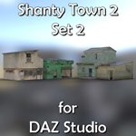 Click to see information about the 'Shanty Town Buildings 2: Set 2 (for DAZ Studio)'.