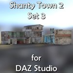 Click to see information about the 'Shanty Town Buildings 2: Set 3 (for DAZ Studio)'.