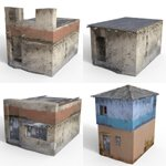 Shanty Town Buildings 2: Set Bundle (for DAZ Studio)