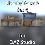 Shanty Town Buildings 2: Set 4 (for DAZ Studio)