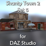 Click to see information about the 'Shanty Town Buildings 2: Set 5 (for DAZ Studio)'.