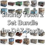 Click to see information about the 'Shanty Town Buildings 2: Set Bundle (for DAZ Studio)'.