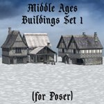 Middle Ages Buildings Set 1 (for Poser)