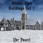 Middle Ages Buildings Set 2 (for Poser)