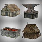 Viking Town: Set 1 (for Poser)