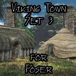 Click to see information about the 'Viking Town: Set 3 (for Poser)'.