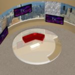 Daytime TV Talk Show Set (for Poser)