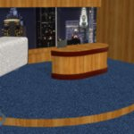 Late Night TV Show Set (for Poser)