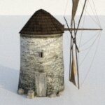 Old Windmill (for Wavefront OBJ)