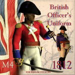 Click to see information about the '1812 British Officer`s Uniform (M4) (for Poser)'.