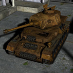 Panzer IV Battle Damage (for Poser)