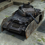 Click to see information about the 'Panzer IV Battle Damage (for Poser)'.