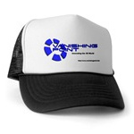 Click to see information about the 'VP Blue Logo Truckers Hat'.