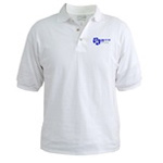 Click to see information about the 'VP Blue Logo Golf Shirt'.