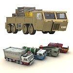 Click to see information about the 'Overlander - Modular Sci-Fi Truck (for Poser)'.