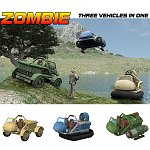 Zombie - MVP - 3 Vehicles in 1 (for Poser)
