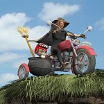 Click to see information about the 'Witches MotorCycle (for Poser)'.