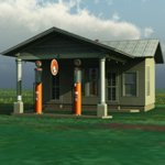 Click to see information about the 'Antique Gas Station (for Vue)'.