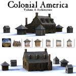 Click to see information about the 'Colonial American Buildings Vol A (for Poser)'.