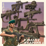 Click to see information about the 'Assault Weapons 4 (for Poser)'.