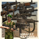 Click to see information about the 'Assault Weapons 1 (for Poser)'.