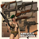 Click to see information about the 'Assault Weapons 2 (for Poser)'.