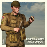 Click to see information about the 'US Paratrooper WWII Gear (for Poser)'.