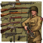 WW2 Guns_USA (for Poser)