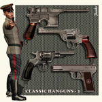 Click to see information about the 'Classic Handguns 1 (for Poser)'.