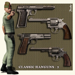 Click to see information about the 'Classic Handguns_2 (for Poser)'.