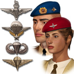 Click to see information about the 'Berets & Wings'.