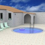 Mediterranean Villa Pool (for DAZ Studio)