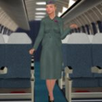 Flight Attendant 1950s (V4) (for Poser)