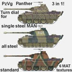 Click to see information about the 'PzVg Panther (for Poser)'.
