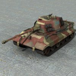 Click to see information about the 'PzVIb King Tiger (for Poser)'.