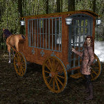 Jail Wagon and Cart (for Poser)