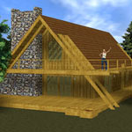 Click to see information about the 'A-Frame Vacation House'.