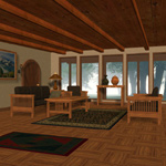 Mission-Style Family Room (for Poser)