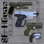 Click to see information about the 'Sci-Fi Handgun Set (for Poser)'.