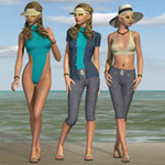 Click to see information about the 'V4 Summer Mix n` Match (for Poser)'.