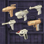 Click to see information about the 'Classic Rayguns (for Poser)'.