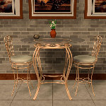 Bistro Table Set (for Poser)