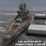 Click to see information about the 'U.S.S Arizona (for Wavefront OBJ)'.