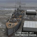Click to see information about the 'U.S.S Vestal (for Wavefront OBJ)'.