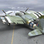 Click to see information about the 'DeHavilland Mosquito (for Poser)'.