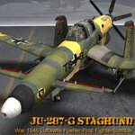 Click to see information about the 'Ju-287-G/1 Staghund (for Poser)'.