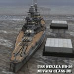 Click to see information about the 'U.S.S Nevada (BB-36) (for Poser)'.